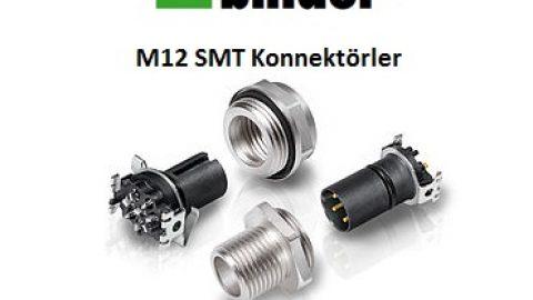 M12 PCB Yüzey Montaj Teknolojisine Sahip (SMT) Konnektörler
