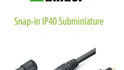 Franz Binder: Snap-in Bağlantı IP40 Konnektörler