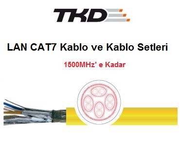 LAN Cat.7 - 600MHz Kablolar, Cat.7A – 1000MHz Kablolar, Cat.7e -1200MHz Kablolar, Cat.7e -1500MHz Kablolar, CAT7 Kablolar, CAT7 Kablo Seti, Cat.7 - 600: LSZH – Kablo Seti, Cat.7A - 1000: LSZH – Sabit Ortam, Cat.7A - 1000: PE – Doğrudan Gömme, Cat.7e - 1200: LSZH – Sabit Ortam, Cat.7e - 1500: LSZH – Sabit Ortam