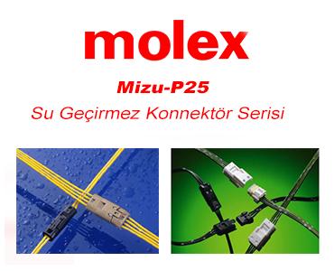 Mizu-P25 Konnektör Serisi, Mizu-P25 Konnektör Serisi, Molex Mizu-P25 Serisi, IP67 Su Geçirmez Konnektörler, Minyatür Su Geçirmez Konnektörler, IP67 Konnektörler