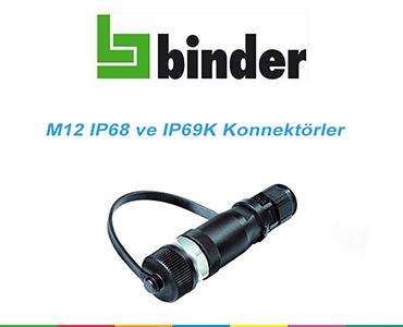 M12 IP68 ve IP69K Konnektörler, M12 IP68 Konnektör, M12 IP68 Soket, M12 IP69K  Konnektörler, Franz Binder M12 Konnektörler, Su Geçirmez M12 Konnektörler, M12 Su Geçirmez Konnektörler