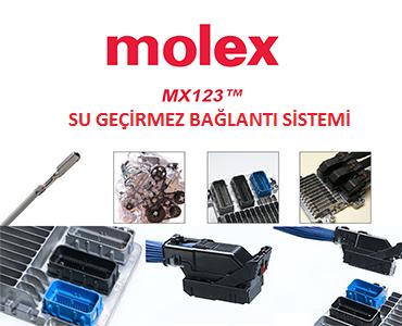 MX123 Serisi Su Geçirmez Konnektörler, Molex MX123, MX123 Motor Konnektörleri, Molex MX123 Vites Konnektörleri, Molex Otomotiv Konnektörleri
