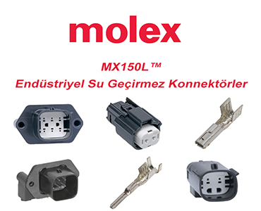 MX150L Serisi Endüstriyel Su Geçirmez Konnektörler, Molex MX150L, MX150L Bağlantı Sistemi, Molex MX150L Konnektör Çeşitleri, MX150L Serisi Molex Konnektörler