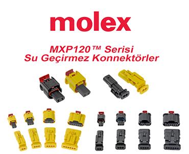 MOLEX MXP120 Su Geçirmez Konnektör Serisi, MOLEX MXP120 Su Geçirmez Bağlantı Sistemi, MOLEX MXP120 Konnektörler, MXP120 Konnektör Çeşitleri, MOLEX MXP120 Türkiye Teslim