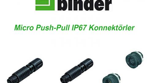 Franz Binder:  Micro Push-Pull IP67 Konnektörler