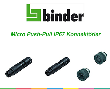 Franz Binder Micro Push-Pull IP67 Konnektörleri, Micro Push-Pull IP67 Konnektörleri, Franz Binder Sinyal Konnektörleri, Micro Push-Pull  Konnektörler, İt Çek Bağlantıya Sahip Konnektörler