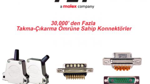 Molex: 30,000' den Fazla Takma-Çıkarma Ömrüne Sahip Konnektörler