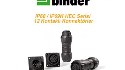 Franz Binder  Yeni IP68IP69K HEC Serisi 12 Kontaklı Konnektörler