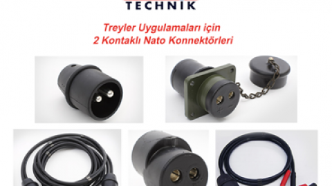 Elke Tecknik: Treyler Uygulamaları için 2 Kontaklı Nato Konnektörleri