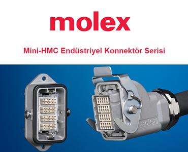 Mini-HMC Endüstriyel Konnektör Serisi, Molex HMC Konnektör, Molex Mini HMC Konnektör Serisi, Molex Robot Kontrol Konnektörü, Molex Robotik Konnektörler, Molex Kontroller Konnektörü