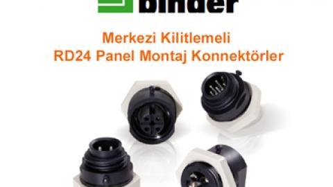 Franz Binder Merkezi Kilitlemeli RD24 Panel Montaj Konnektörler