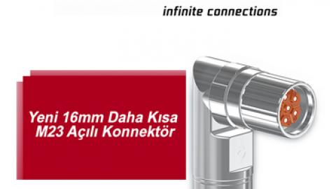Intercontec: Yeni 16mm Daha Kısa M23 Açılı Konnektör