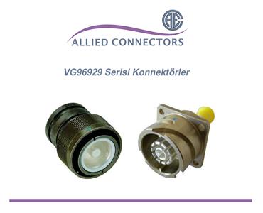 VG96929 Standartı Konnektörler, VG96929 Reverse Bayonet Konnektörler, VG96929 Askeri Konnektörler, Yüksek Akım Askeri Konnektörler, Tek Kontaklı Askeri Konnektörler
