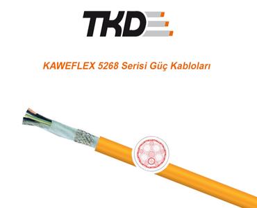 KAWEFLEX 5268 Serisi Güç Kabloları, Servo Motor Güç Kablo Türleri, Sabit Servo Motor Güç Kablosu, PVC Dış Kılıflı Servo Motor Güç Kablosu, Hareketsiz Ortam için Servo Motor Kablosu