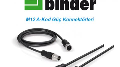Franz Binder: M12 A-Kod Güç Konnektörleri