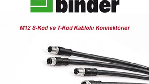 Franz Binder: M12 S-Kod ve T-Kod Kablolu Konnektörler