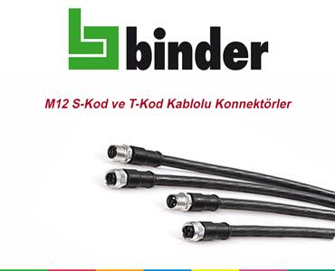 M12 S-Kod ve T-Kod Kablolu Konnektörler, M12 S-Kod Kablolu Konnektörler, M12 T-Kod Kablolu Konnektörler, M12 Kablolu Güç Konnektörleri, M12 Güç Konnektörleri