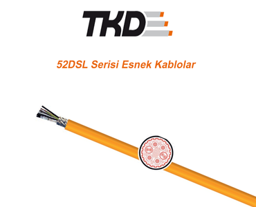 52DSL Serisi Esnek Kablolar, DSL Kablo Çeşitleri, Servo Motor DSL Kabloları, Esnek DSL Kablolar
