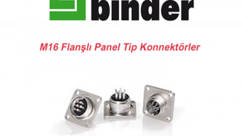 Franz Binder: M16 Flanşlı Panel Tip Konnektörler