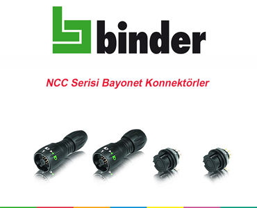 Franz Binder NCC Serisi Bayonet Konnektörler, NCC Serisi Konnektörler, Su Geçirmez Bayonet Konnektörler