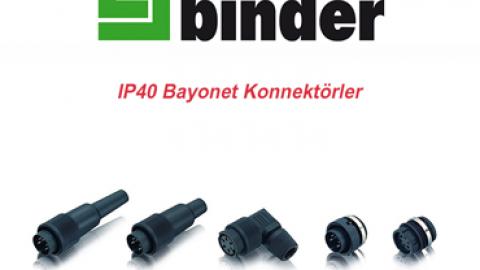 Franz Binder: IP40 Bayonet Konnektörler