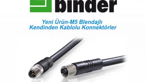 Franz Binder: Yeni Ürün-M5 Blendajlı Kendinden Kablolu Konnektörler