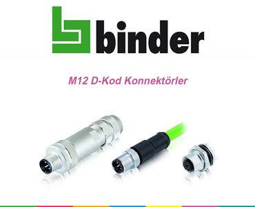 M12 D-Kod Konnektörler, Franz Binder M12 D-Kod Serisi Konnektörler, M12 D-Kod Konnektör Çeşitleri, M12 DKod Konnektörler, M12 Cat5 Haberleşme Konnektörleri, M12 DKod Konnektörler, M12 Dkod Soketler, D-Kod Konnektörler M12