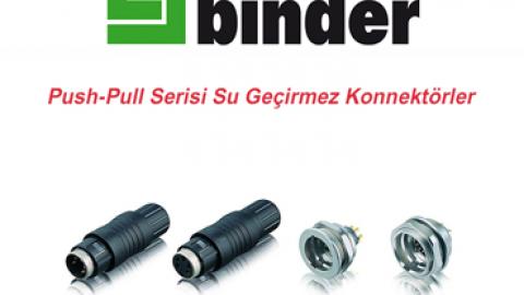 Franz Binder: Push-Pull Serisi Su Geçirmez Konnektörler
