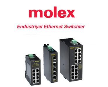 Endüstriyel Network Ürünleri,  Yönetilebilir Endüstriyel Switch, Endüstriyel Ethernet Switch, Sanayi Tip Ethernet Switch, Molex Ethernet Switches