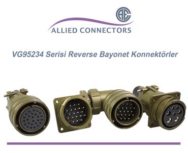 Askeri Bayonet Konnektörler, Askeri Bayonet Kilitlemeli Konnektörelr, VG95234 Standartı Konnektörler, VG95234 Reverse Bayonet Connectors, VG95234 Reverse Bayonet Konnektörler, Allied MG Serisi Konnektörler, MG Serisi Bayonet Konnektörler, Reverse Bayonet Konnektörler, Bayonet Konnektör Çeşitleri, MIL-DTL-5015 Reverse Bayonet Konnektörler, MIL-DTL-5015 Bayonet Konnektörler