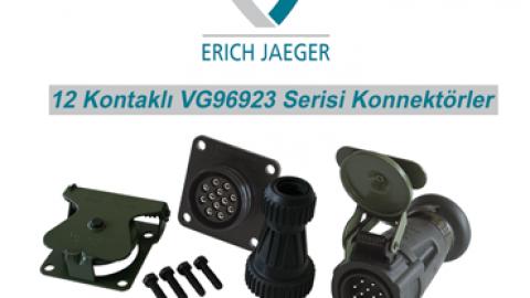 Erich Jaeger: 12 Kontaklı VG96923 Serisi Konnektörler
