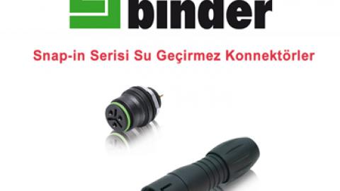 Franz Binder: Snap-in Serisi Su Geçirmez Konnektörler