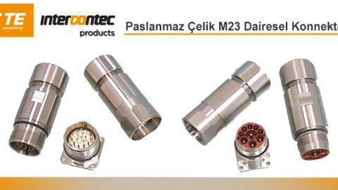 Intercontec: Paslanmaz Çelik M23 Dairesel Konnektörler
