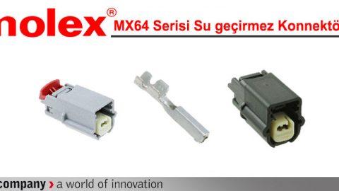 Molex: MX64 Serisi Su geçirmez Konnektörler