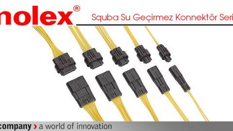 Molex: Squba Su Geçirmez Konnektör Serisi