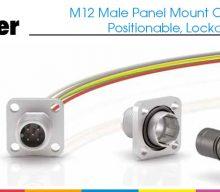 Franz Binder: M12 Male Panel Mount Connector, Positionable, Lockable
