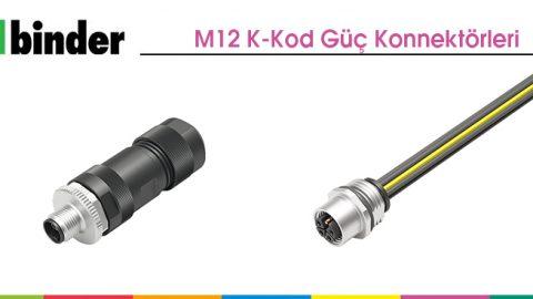 M12 K-Kod Güç Konnektörleri