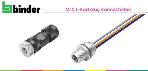 Franz Binder: M12 L-Kod Güç Konnektörleri