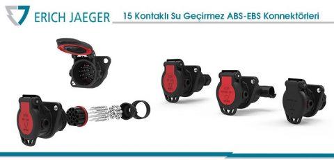 15 Kontaklı Yeni Su Geçirmez ABS-EBS Konnektörleri