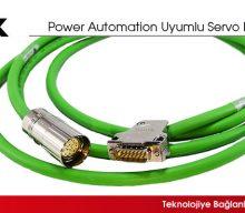 Power Automation Uyumlu Servo Motor Kabloları