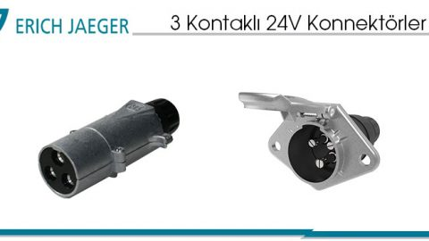3 Kontaklı 24V Konnektörler