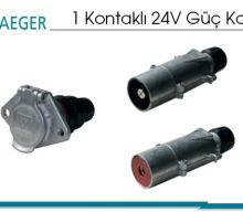 1 Kontaklı 24V Güç Konnektörü