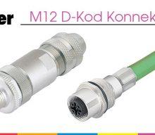 M12 D-Kod Konnektör Serisi