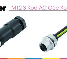 M12 S-Kod AC Güç Konnektörleri
